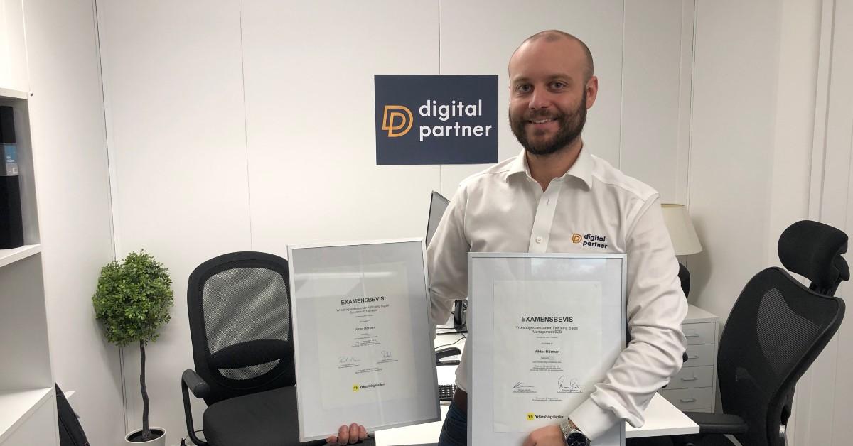 Viktor Hörman examen digital conversion manager digitalpartner